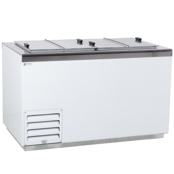 Excellence HFF-8 54 inch Flip Lid Ice Cream Dipping Cabinet