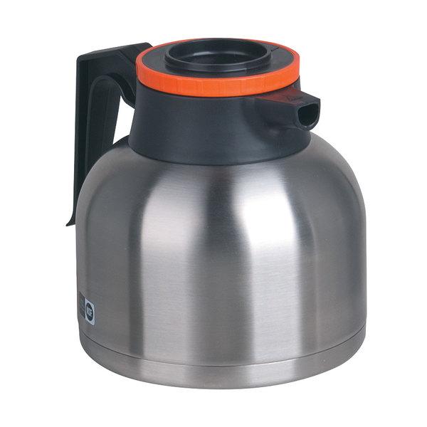 Bunn 40163.0001 Zojirushi 64 oz. Stainless Steel Economy Thermal Carafe - Orange Top