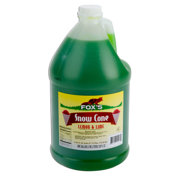 Fox's Lemon-Lime Snow Cone Syrup - 1 Gallon