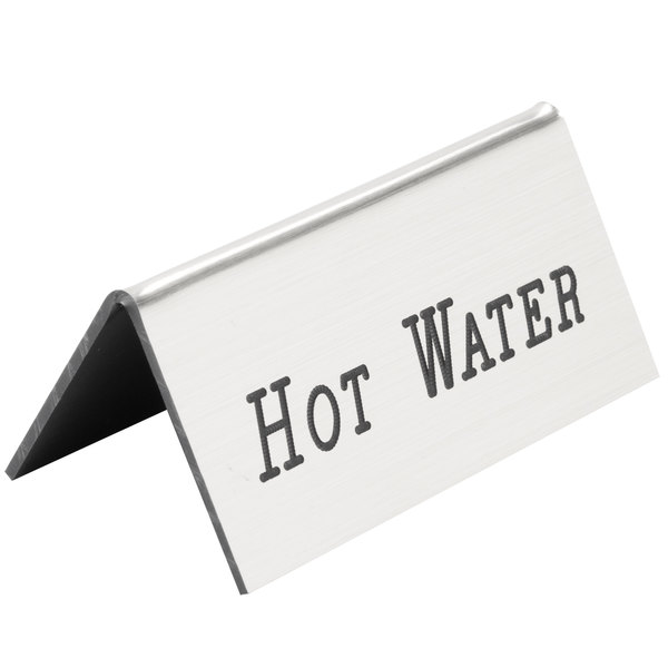 Cal-Mil 228-3-10 Silver Hot Water Beverage Tent - 3 inch x 1 inch x 1 1/2 inch