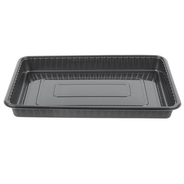 Genpak 55514 Bake 'N Show Dual Ovenable 12 1/2 inch x 9 inch x 1 inch Quarter Sheet Baking / Cake Pan - 100/Case