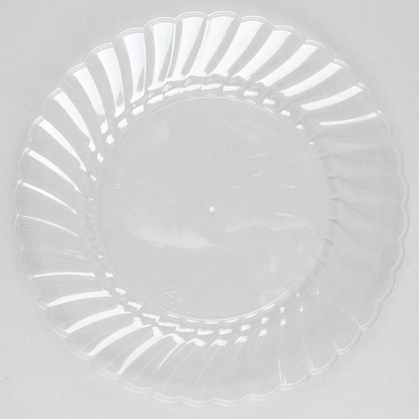 WNA Comet CW6180 Classicware 6 inch Clear Plastic Plate - 18/Pack
