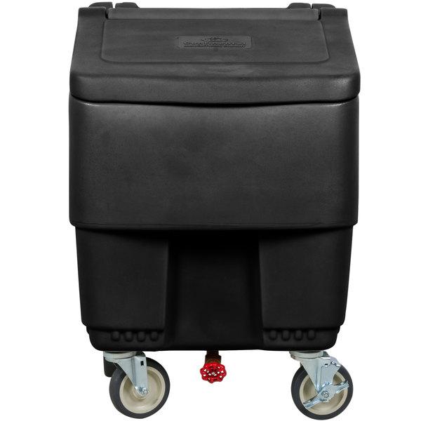 Continental 9725BK Con-Serv 125 lb. Black Ice Bin