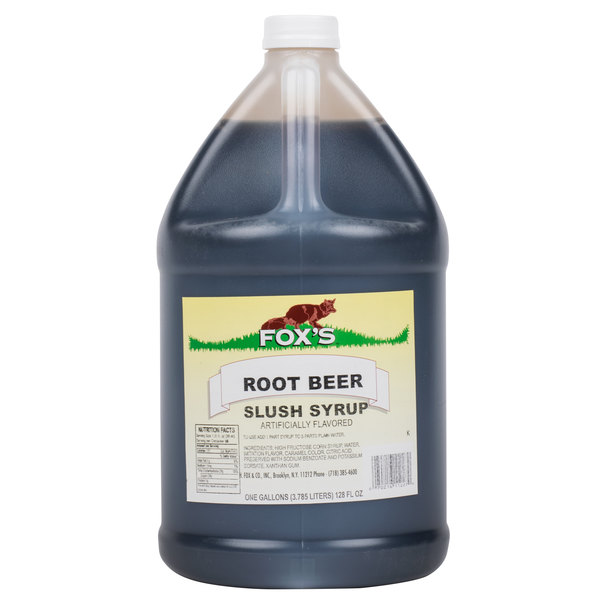 Fox's 1 Gallon Root Beer Slush Syrup  - 4/Case