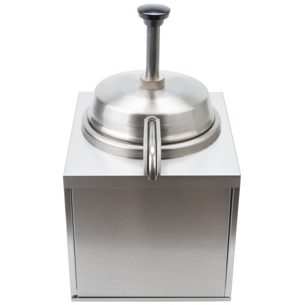 Star 3WSA-HS 3.5 Qt. Stainless Steel Condiment Warmer with Pump and Heated Spout