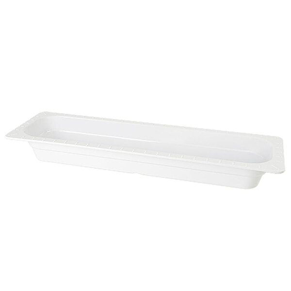 GET ML-158-WH White Melamine 1/2 Size Long 2 1/2 inch Deep Food Pan - 6/Case