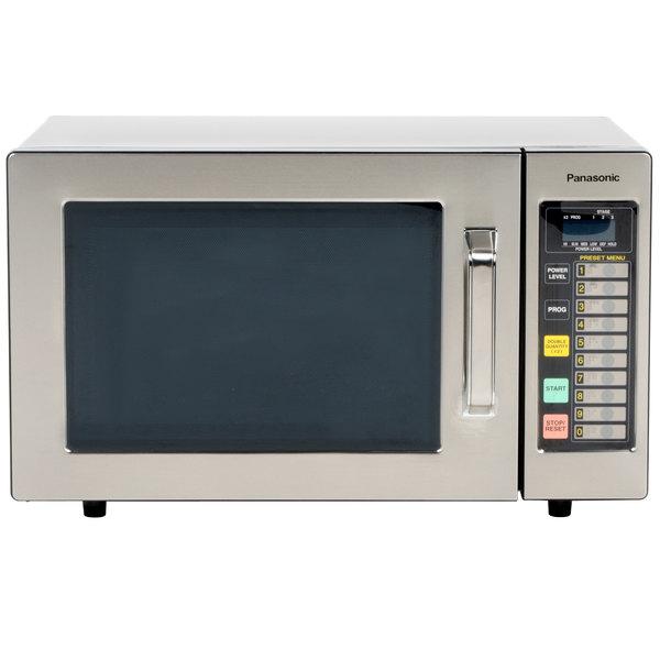 Panasonic NE-1064F Stainless Steel Commercial Microwave Oven - 120V, 1000W