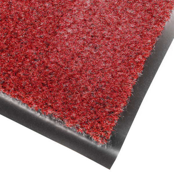 Cactus Mat 1437R-R3 Catalina Standard-Duty 3' x 60' Red Olefin Carpet Entrance Floor Mat Roll - 5/16 inch Thick