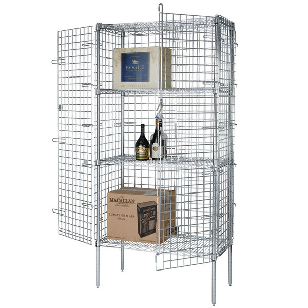 Wire Security Cage - 18 inch x 48 inch x 63 inch