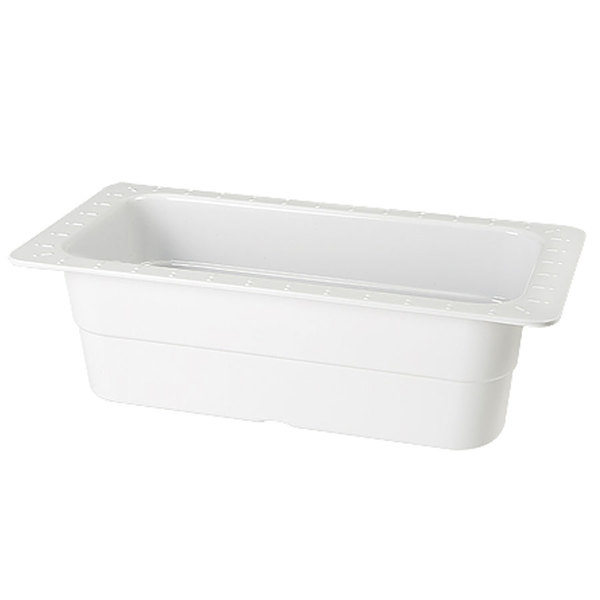 GET ML-20-WH White Melamine 1/3 Size 4 inch Deep Food Pan - 3/Case