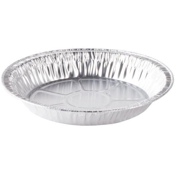 D&W Fine Pack D79 9 inch Foil Pie Pan 1 5/16 inch Deep - 50/Pack