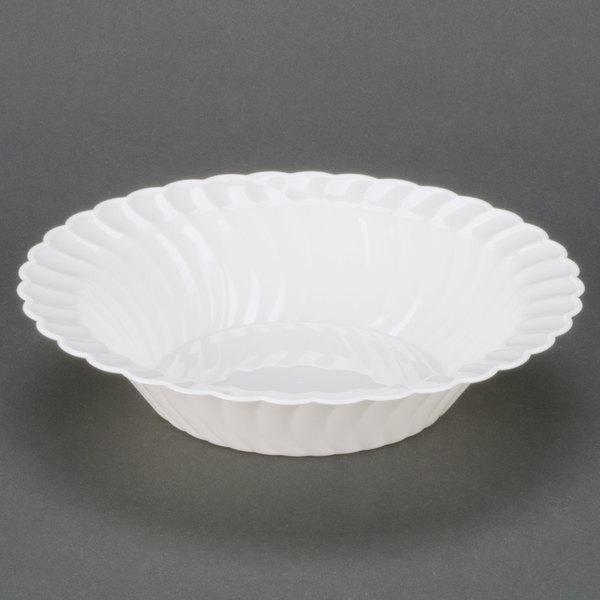 Fineline Flairware 212-WH White 12 oz. Plastic Bowl - 180/Case