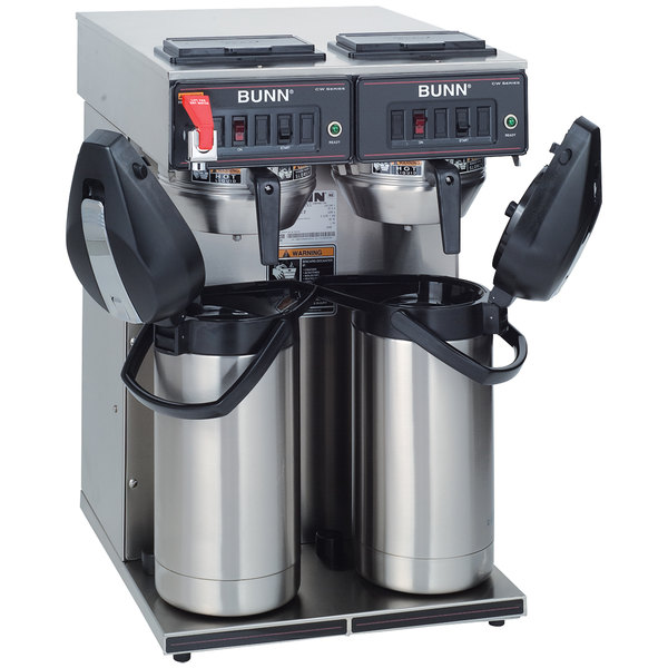 Bunn 23400.0046 CWTF Twin APS Airpot Brewer with Gourmet Funnel and Hot Water Faucet - 120/240V