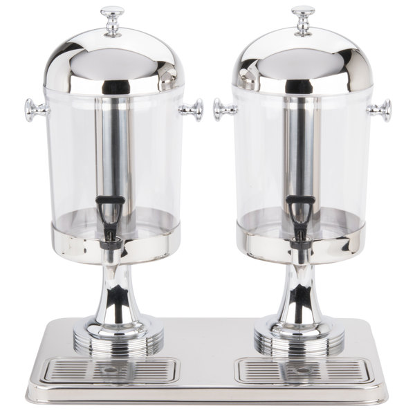 Tablecraft 72 Dual Cold Beverage / Juice Dispenser - 4.2 Gallons