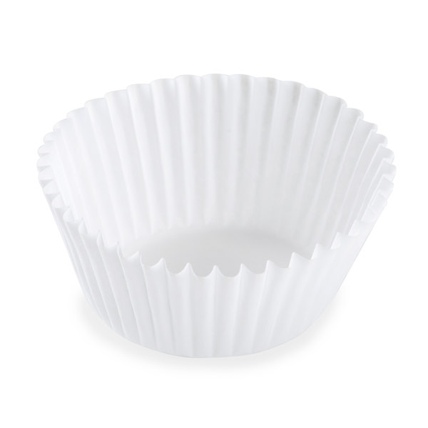White Fluted Baking Cup 1 3/4 inch x 1 1/8 inch - 10000/Case