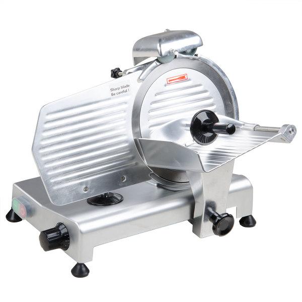 Avantco SL310 10 inch Manual Gravity Feed Meat Slicer - 1/4 hp