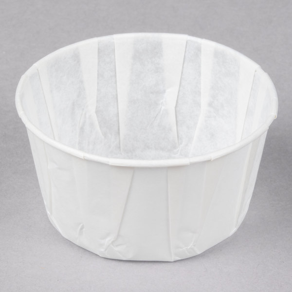Genpak F550 5.5 oz. Harvest Paper Souffle / Portion Cup - 250/Pack