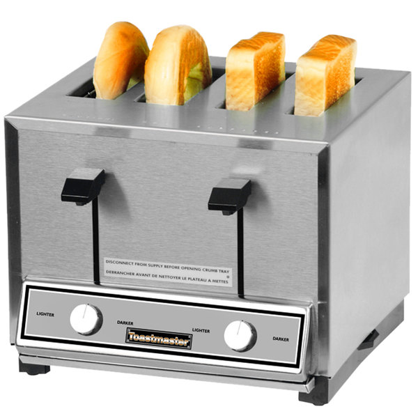 Toastmaster HT424 4 Slice Commercial Combination Bread and Bagel Pop-Up Toaster - 208/240V, 1700/2200W