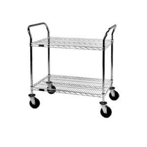 Eagle Group U2-2448C 24 inch x 48 inch Chrome Heavy Duty Two Shelf Utility Cart
