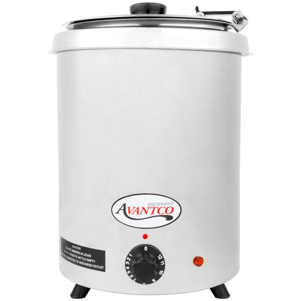 Avantco W300SS 6 Qt. Round Stainless Steel Countertop Food Warmer - 110V, 300W