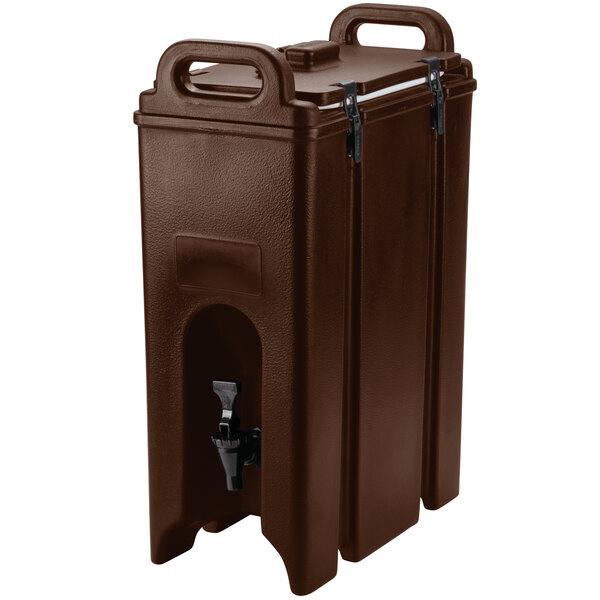 Cambro 500LCD131 Camtainer 4.75 Gallon Dark Brown Insulated Beverage Dispenser