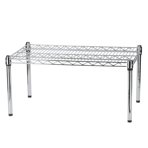 Regency 30 inch x 24 inch x 14 inch Chrome Plated Wire Dunnage Rack - 600 lb. Capacity