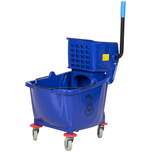 Lavex Janitorial 36 Qt. Blue Mop Bucket & Wringer Combo