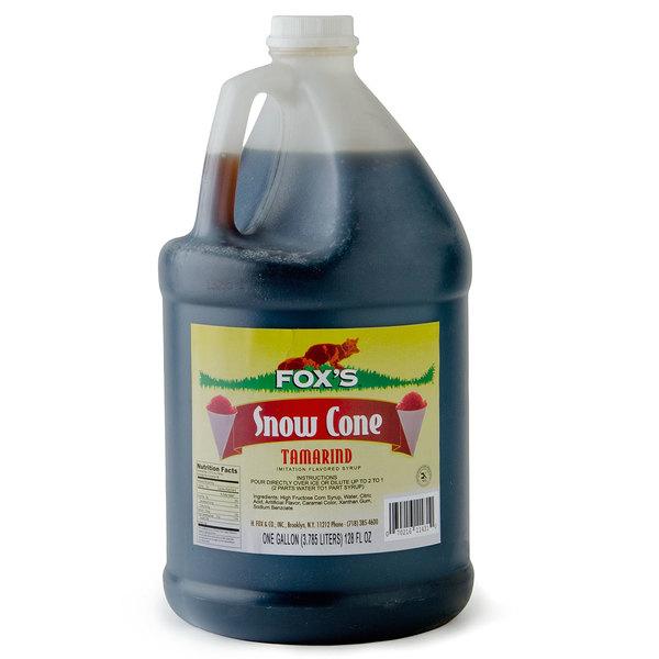 Fox's 1 Gallon Tamarind Snow Cone Syrup - 4/Case