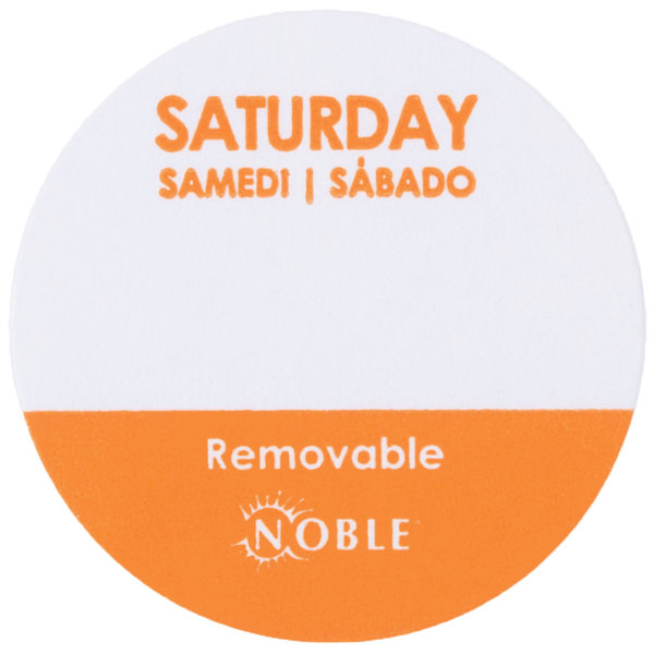 Noble Products Saturday 1 inch Removable Day of the Week Dot Label - 1000/Roll