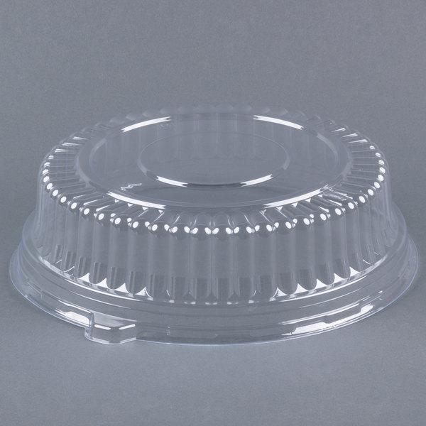 Fineline Platter Pleasers 9201-L 12 inch PET Plastic Round Dome Lid - 25/Case