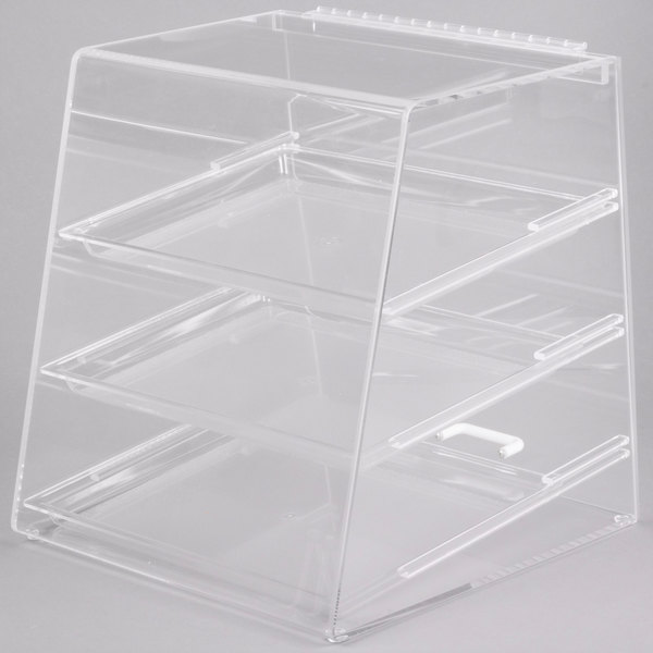 Cal-Mil 261 Classic Three Tier Acrylic Display Case with Rear Door - 15 1/2 inch x 15 inch x 16 inch