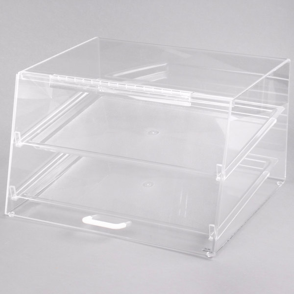 Cal-Mil 255-S Classic Two Tier Acrylic Display Case with Front and Rear Doors - 19 inch x 15 inch x 11 inch
