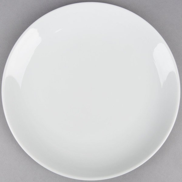 Coupe Bright White 9 inch China Round Plate - 24 / Case