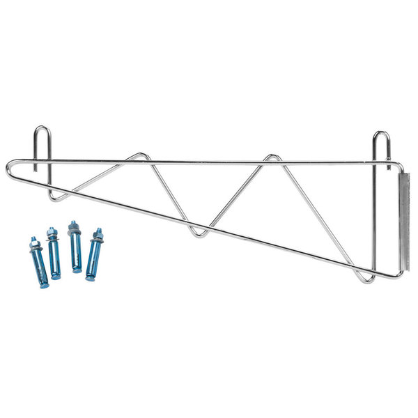 Regency 14 inch Deep Wall Mounting Bracket Set for Chrome Wire Shelving - 2/Pack