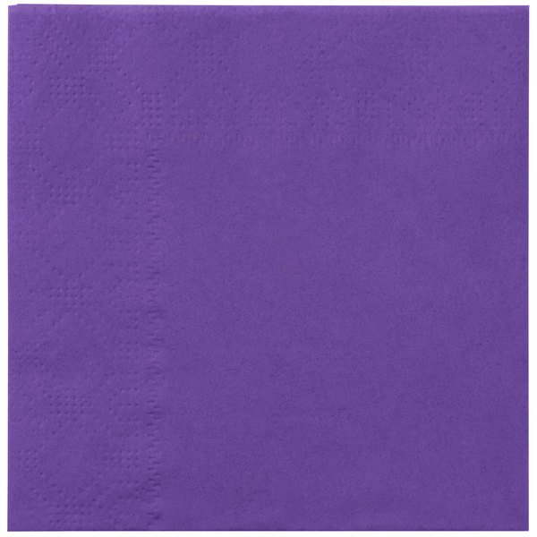 Hoffmaster 180339 Purple Beverage / Cocktail Napkin - 250 / Pack