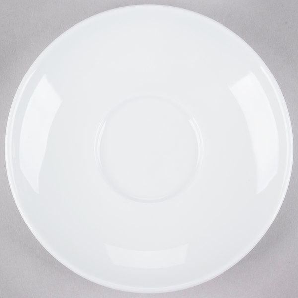 Tuxton VPE-064 Florence 6 1/2 inch Bright White Coupe China Saucer - 36/Case