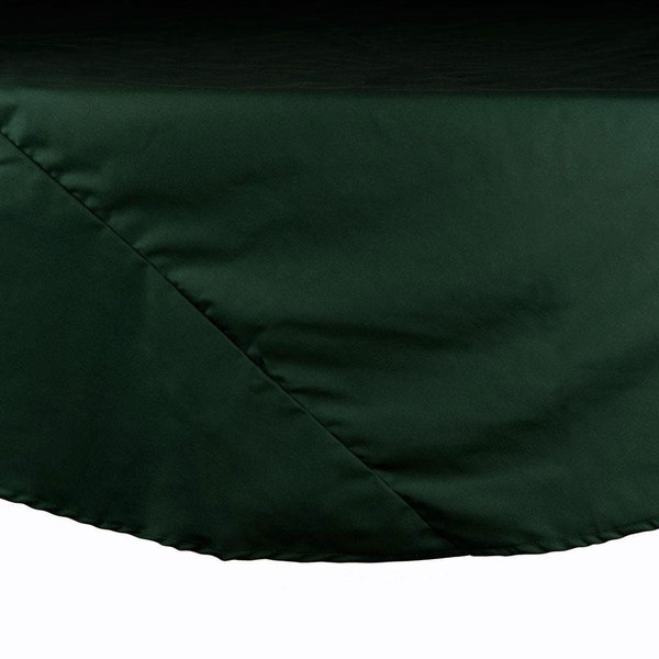 120 inch Forest Green Round Hemmed Polyspun Cloth Table Cover