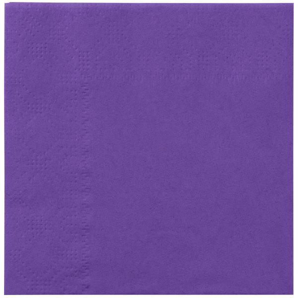 Hoffmaster 180339 Purple Beverage / Cocktail Napkin - 1000 / Case