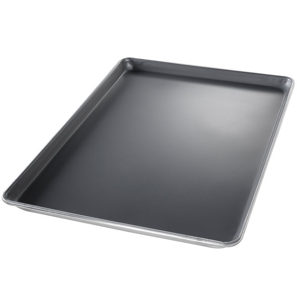 Chicago Metallic 40858 Half Size 18 Gauge DuraShield Aluminum Sheet Pan - Wire in Rim, 13 inch x 18 inch