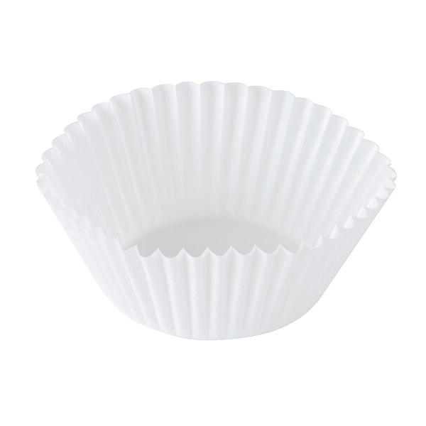 Hoffmaster 610020 1 3/4 inch x 1 1/8 inch White Fluted Baking Cup - 10000/Case