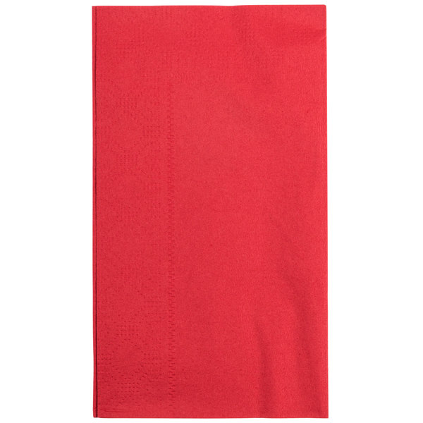 Hoffmaster 180511 Red 15 inch x 17 inch Paper Dinner Napkins 2-Ply  - 1000/Case