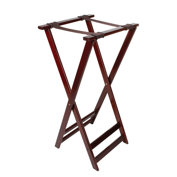 GET TSW-105 Folding Mahogany 38 inch Wood Tray Stand