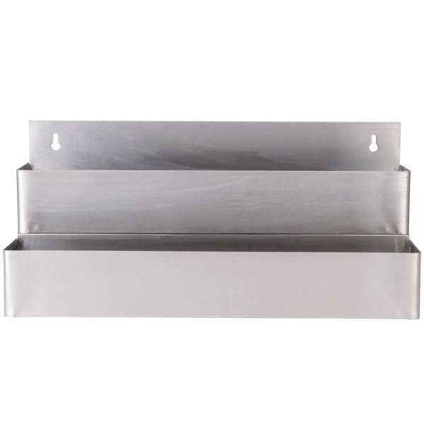 Regency 22 inch Stainless Steel Double Tier Speed Rail