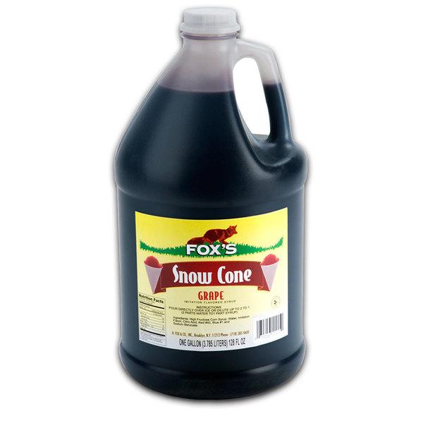 Fox's Grape Snow Cone Syrup - 1 Gallon