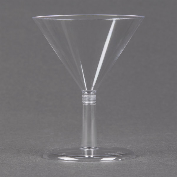 WNA Comet APTMT2 Petites 2 oz. Clear Plastic Martini Glass  - 24/Pack