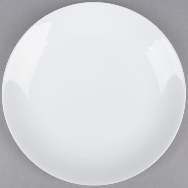 8 inch Coupe Bright White Round Porcelain Plate  - 36/Case