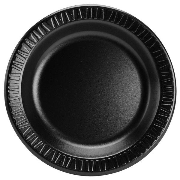 Dart Solo 10PBQR Quiet Classic 10 1/4 inch Black Laminated Round Foam Plate - 500 / Case