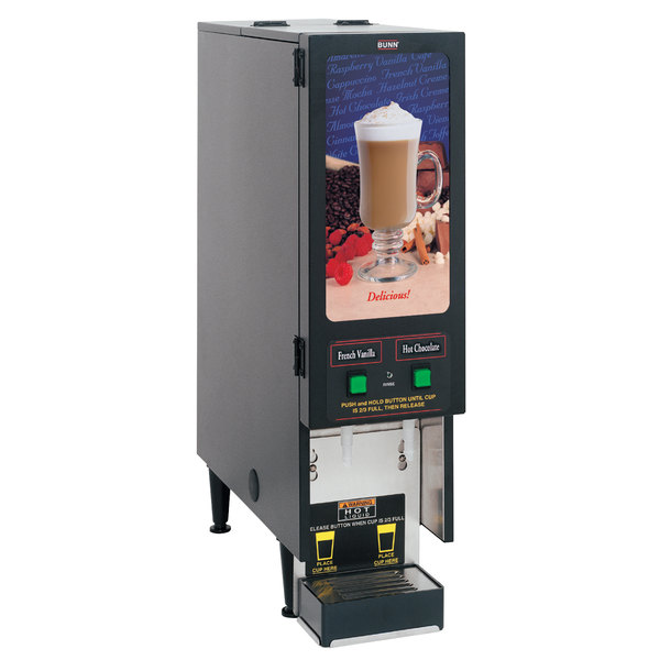 Bunn SET00.0207 FMD-2 BLK Fresh Mix Cappuccino / Espresso Machine Hot Beverage Dispenser with 2 Hoppers - 120V