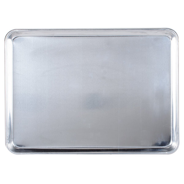 Baker's Mark 18 inch x 13 inch Half Size 19 Gauge Wire in Rim Aluminum Bun / Sheet Pan