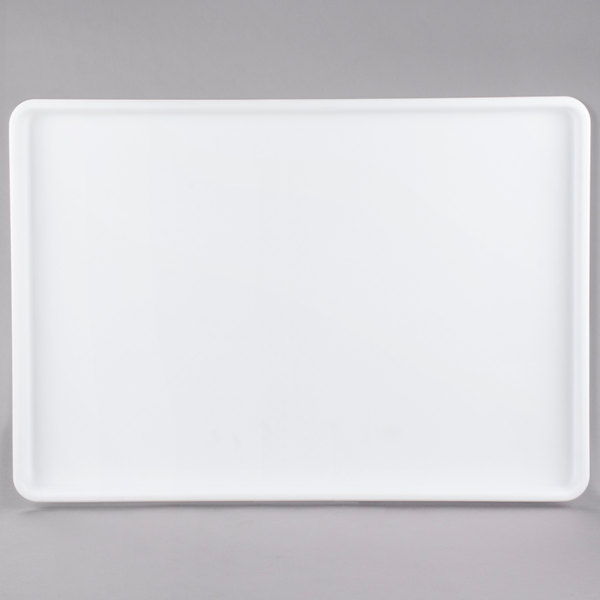 Choice 18 inch x 26 inch White Display Storage Tray